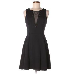 Express Black Studded Mesh Dress